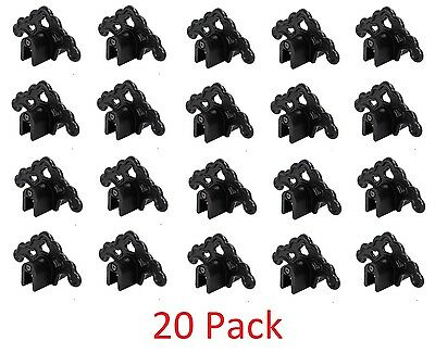 20 BLACK Roof Ice Guard Snow Guard Snow Stops for Standing Seam Metal Roofing