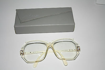 Cazal Brille West Germany 169 150 lunettes Brille occhiali glasses gold weiß