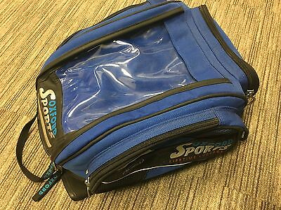 Used Oxford Humpback Tank Bag Expandable Magnetic Motorcycle Bike Blue