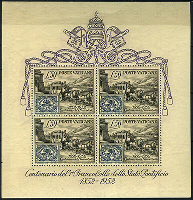 Vatican City 1952 SG#MS176a Papal States Stamp Anniv MH M/S Cat £400 #D40893