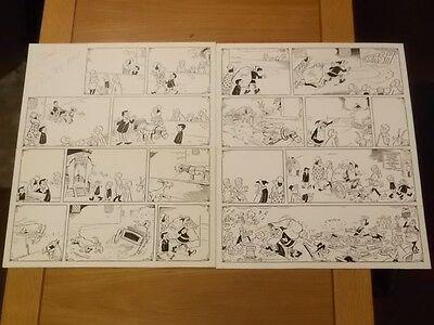 Toffs And Toughs Buster Ipc Original Comic Art Full Story