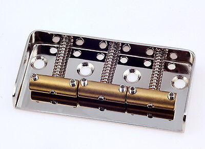 "Tele® 1/2 Bridge Satin Nickel 0,48"" CR Steel -Brass Saddles- Made in USA"