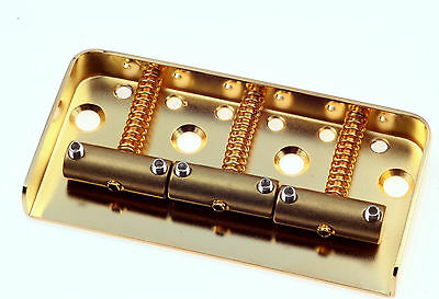 "Tele® 1/2 Bridge Satin Gold 0,48"" CR Steel -Brass Saddles- Made in USA -"