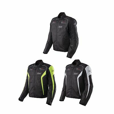 Uber Urban Short Motorcycle Motorbike CE Armoured Waterproof Textile Jacket