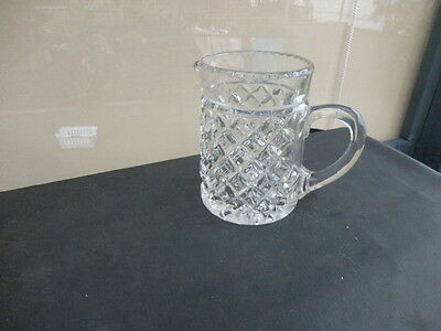 Vintage Large Cut Glass Water Jug