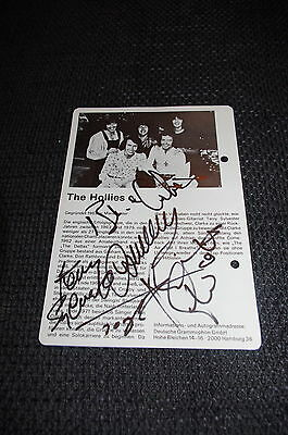 THE HOLLIES signed 5x7 inch autographed magazine Photo InPerson in Berlin RARE