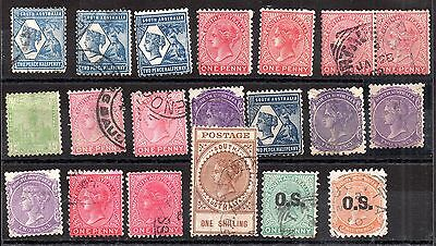 Australia QV Australian States unchecked collection JB17