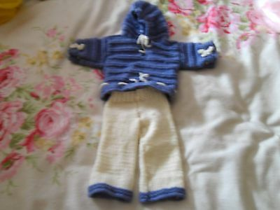hand knitted dolls clothes maybe baby annabel