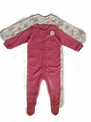Next Outlet Baby Girl`s 2 Pieces Set Sleepwear Sleepsuits Size 12-18mths
