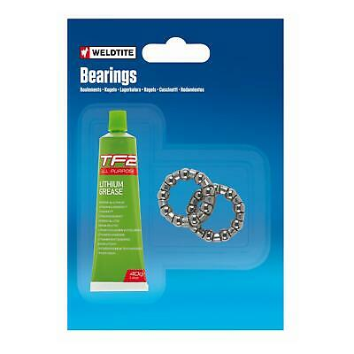 "Weldtite Bike Cycle Caged BB Ball Bearings With Grease 1/4"" Bottom Bracket Cages"