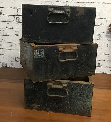 Workshop Metal Drawers Vintage Industrial