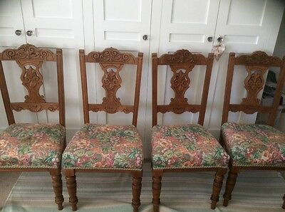 Edwardian dining chairs (4)
