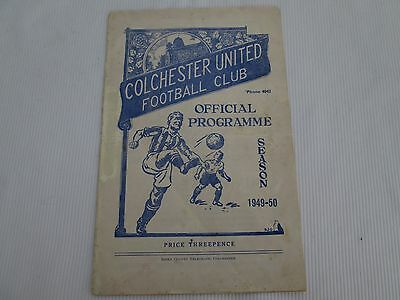 1949-50 SOUTHERN LEAGUE COLCHESTER UNITED v BARRY TOWN