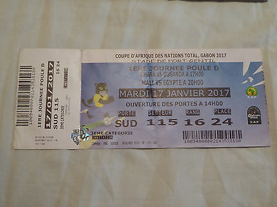 Sammler Ticket CAN 2017 African Nations Ghana - Uganda + Mali - Egypt Afrika Cup