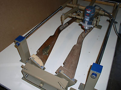 Rifle Stock Duplicator Machine. Carves a New Stock from a Walnut Blank