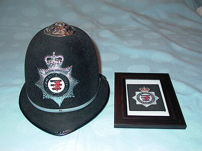 Genuine Obsolete Avon And Somerset Constabulary Police Helmet With Badge