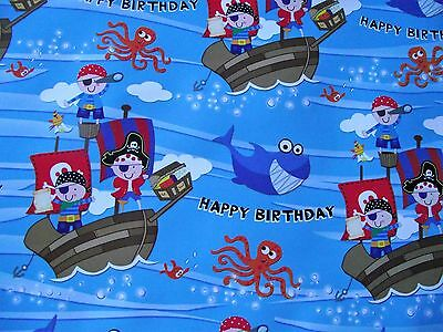 2 Sheets Of Pirates Wrapping Paper (130)