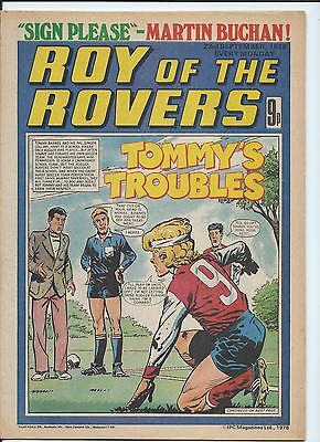 Roy of the Rovers Comic , 23rd Sept 1978