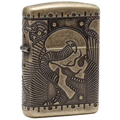 Zippo 29268, Steampunk, Antique Brass Finish Lighter,  Full Size
