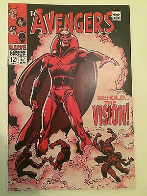 The Avengers #57 Comic Book First Appearance Of Vision VF+