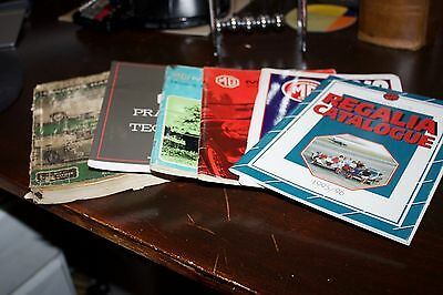 MG owners handbooks and catalogues