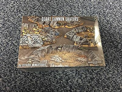 WARHAMMER 40,000 QUAKE CANNON CRATERS Terrain (OOP) - Brand New In Sealed Box