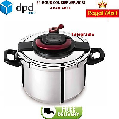 Brand New Tefal Clipso Plus Stainless Steel Pressure Cooker, 6 Litres