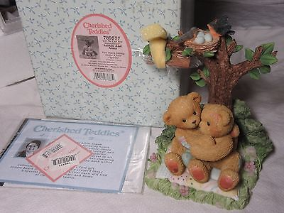 Lot55 - AUSTIN and ALMA Cherished Teddies #789577 BOXED Two Bears Under a Tree