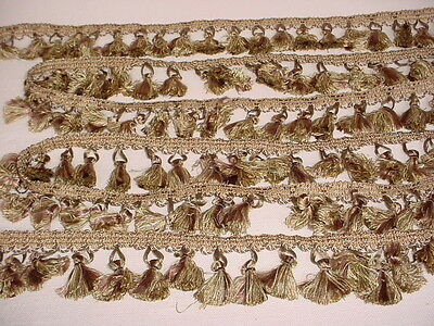 9+y CONSO #096483 GOLDEN BROWN TASSEL DRAPERY UPHOLSTERY TRIM