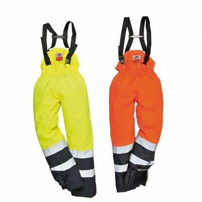 PORTWEST S782 Bizflame yellow or orange hi-vis rain and flame resistant trouser