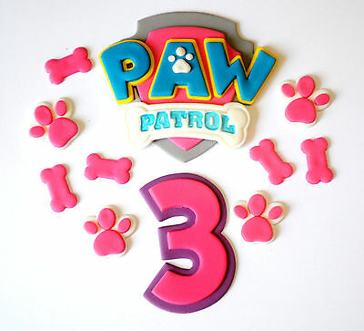 Paw Patrol Girl Cake Toppers! Set With A Number - Choose Your Size...  Awesome!!