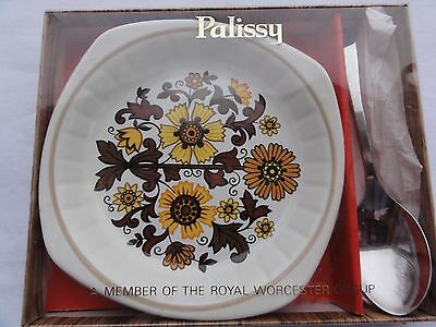 Worcester Palissy Dish and Spoon Set, Boxed