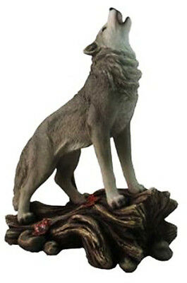 CALL of the WILDERNESS    Standing Howling Wolf Statue Figurine  H12""