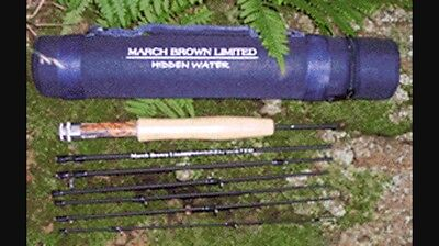 March Brown HIDDEN WATER 9' 3WT TRAVEL FLY ROD