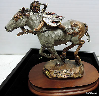 """Legends """"Beating Bad Odds, by CA Pardell, Mixed Media Sculpture, 994/2500"""