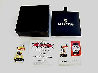 guinness 1955 gilroy pin badge with box&cert. ltd.edit 1323/2500 in VGC