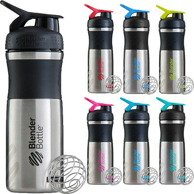 Blender Bottle Stainless Steel SportMixer 28 oz. Tritan Grip Shaker