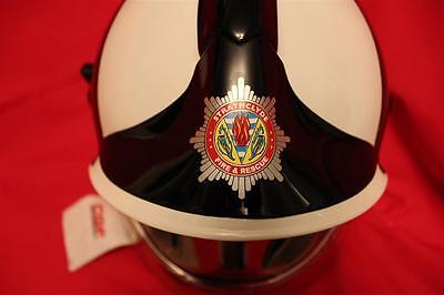 Obsolete Msa Gallet Strathclyde Fire & Rescue Chief Fire Officers Helmet