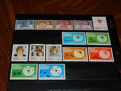 British Antarctic Territory stamps - 14 mint hinged early stamps - super !!
