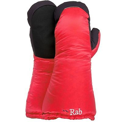 Rab Endurance Down Mitts- Red, Size Medium [RRP £85.00]