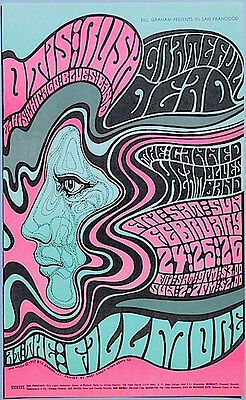 MINT Grateful Dead Canned Heat 1967 BG 51 Fillmore Poster