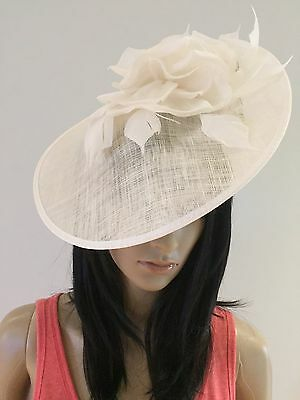 Nigel Rayment Ivory Wedding Occasion Disc Fascinator Disc Hat Occasion