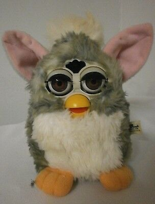 Furby Baby-White and Gray-1999-Not Working