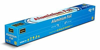 Aluminium Kitchen Catering Foil Tin Food GRADE Baking Oven Wrap 45cm x 50M 18Mic
