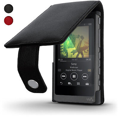 Leather Skin Flip Case for Sony Walkman NW-A35 NW-A40 Cover + Screen Protector