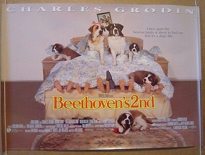 BEETHOVEN'S 2nd (1993) Original Cinema Quad Film Poster - Charles Grodin