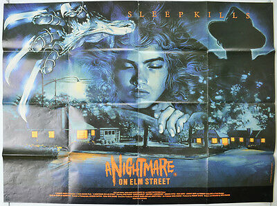 A NIGHTMARE ON ELM STREET (1984) Original Quad Movie Poster - Robert Englund