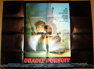 DEADLY PURSUIT (1988) Original Quad Movie Poster - Sidney Poitier, Tom Berenger