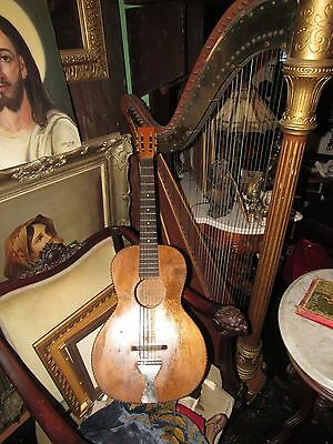antique guitar from early 20th century