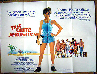 NOT QUITE JERUSALEM (1985) Original Cinema Quad Movie Poster - Joanna Pacula